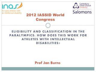 2012 IASSID World Congress
