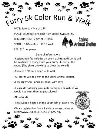Furry 5k Color Run & Walk