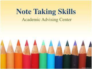 Note Taking Skills