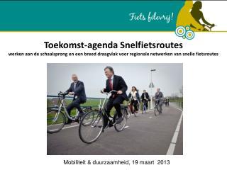 Mobiliteit & duurzaamheid, 19 maart  2013