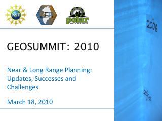 GEOSUMMIT : 2010