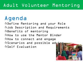 Adult Volunteer Mentoring