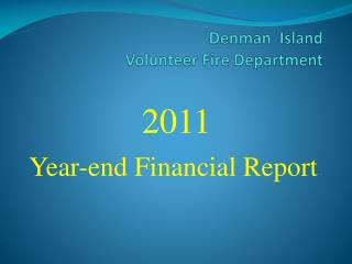 Denman  Island  Volunteer Fire Department