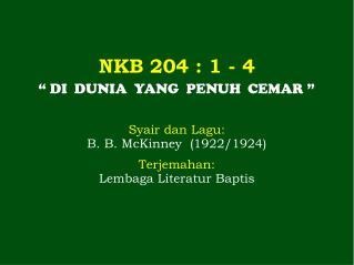 NKB 204  : 1 -  4