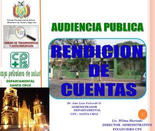Estado Plurinacional de Bolivia Ministerio de Salud y Deportes