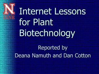 Internet Lessons for Plant Biotechnology
