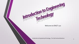 Introduction to Engineering Technology