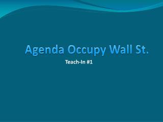 Agenda Occupy Wall Street