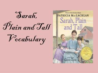Sarah,  Plain and Tall  Vocabulary