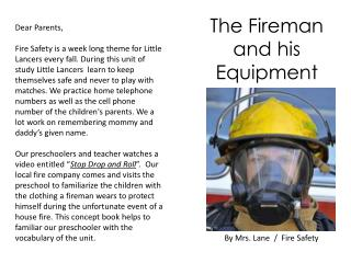 By Mrs. Lane  /  Fire Safety