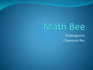 Math Bee