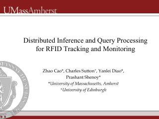 Distributed Inference and Query Processing for RFID Tracking and Monitoring
