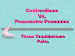 Contractions Vs.  Possessive Pronouns: