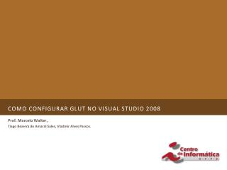 Como configurar glut no visual studio 2008