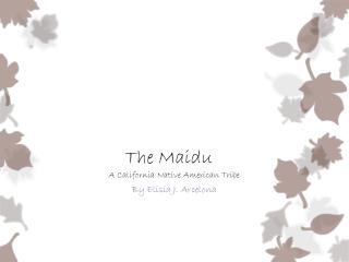The Maidu   A California Native American Tribe