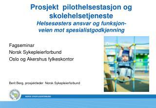 Fagseminar Norsk Sykepleierforbund Oslo og Akershus fylkeskontor