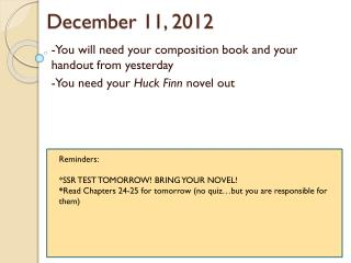 December 11, 2012