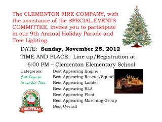 DATE:   Sunday, November 25, 2012 TIME AND PLACE:  Line up/Registration at