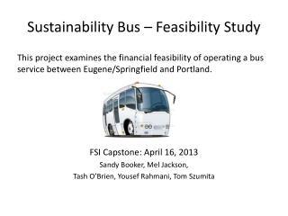 Sustainability Bus – Feasibility Study