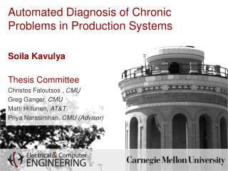 Automated Diagnosis of Chronic Problems in Production Systems