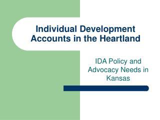 Individual Development Accounts in the Heartland