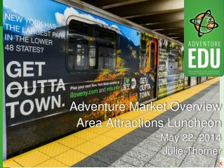Adventure Market Overview Area Attractions Luncheon May 22, 2014 Julie Thorner