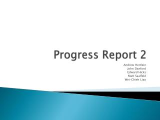 Progress Report 2
