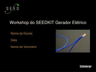 Workshop do SEEDKIT Gerador Elétrico