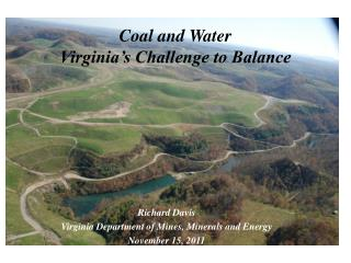 Coal and Water Virginia's Challenge to Balance