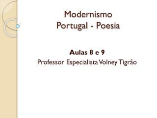 Modernismo Portugal - Poesia
