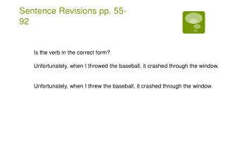 Sentence Revisions pp. 55-92