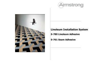 Linoleum Installation System S-780  Linoleum Adhesive S-761 Seam Adhesive