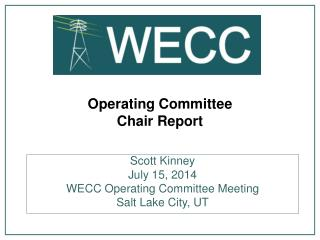 Operating Committee Chair Report