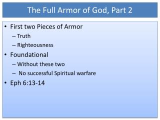 The Full Armor of God, Part 2