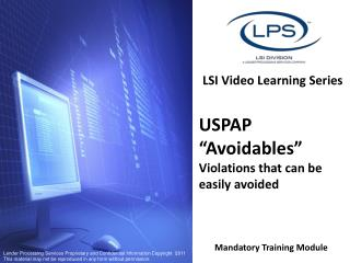 LSI Video Learning Series