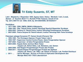 Tri Eddy Susanto, ST, MT