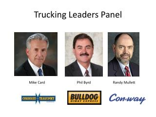 Trucking Leaders Panel