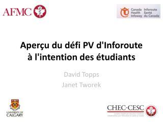 Aperçu du défi PV  d'Inforoute à  l'intention des étudiants