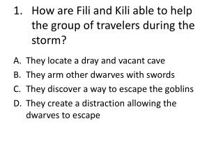 How are  Fili  and  Kili  able to help the group of travelers during the storm?