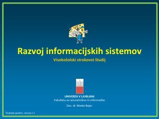 Razvoj informacijskih sistemov