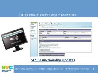 SESIS Functionality Updates