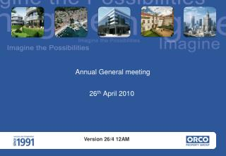 Presentation - Shareholders General Meeting April 26th