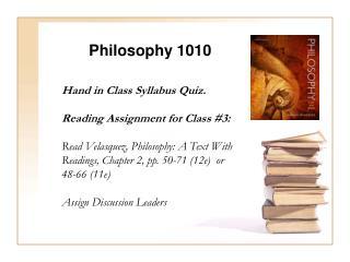 Philosophy  1010