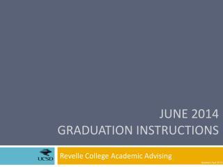 June 2014  Graduation  Instructions