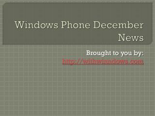 Summary of Windows Phone Homebrew or Jailbreak Apps