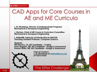 CAD Apps for Core Courses in AE and ME Curricula