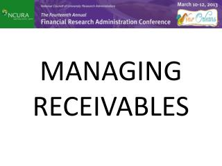 MANAGING RECEIVABLES