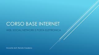 CORSO BASE INTERNET