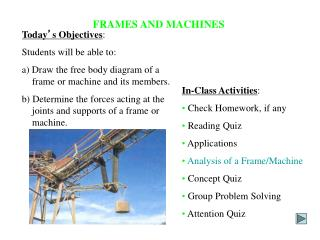 FRAMES AND MACHINES