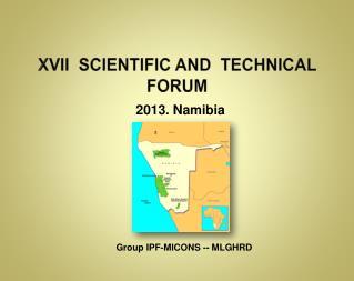 XVII  scientific and  Technical  Forum